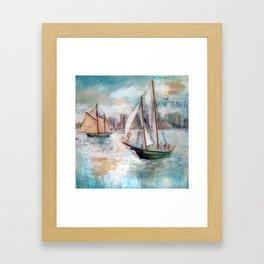 City Sailors Framed Art Print