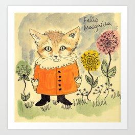 Felis Margarita Art Print