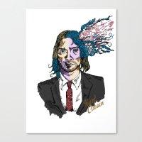 kurt cobain Canvas Prints featuring Kurt Gore Cobain by Alexalco5