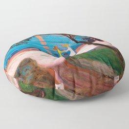 Edvard Munch - Dance On The Beach - Digital Remastered Edition Floor Pillow