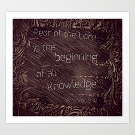 Fear is knowledge Art Print