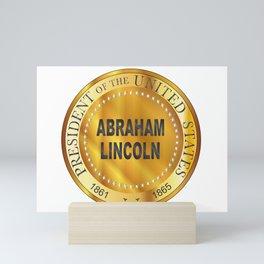 Abraham Lincoln Metal Stamp Mini Art Print