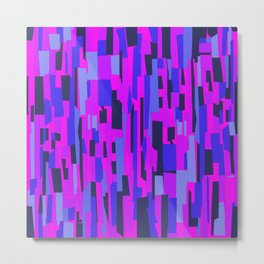 Icy Blue and Purple Crackle Glass Pattern Metal Print