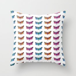 colorful butterflies pattern 1 Throw Pillow