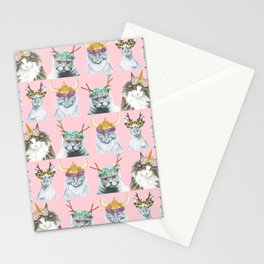 KITTY CATS 3 Stationery Cards