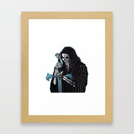 grim reaper with sword .grim reaper tattoo. Framed Art Print