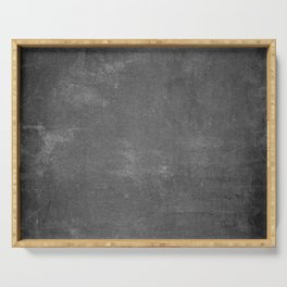 Gray and White School Chalk Board Serving Tray