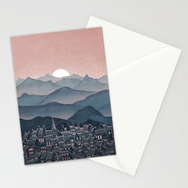 Seek - Sunset Mountains Stationery Cards