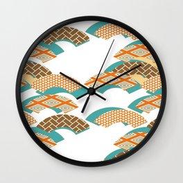 Geometry wind pattern Wall Clock