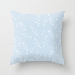 leaves of rosemary - baby light blue Throw Pillow