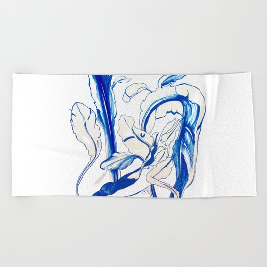 Plant in Blue Marker - Leaf of Life Miracle Leaf - Original Blue Beach Towel