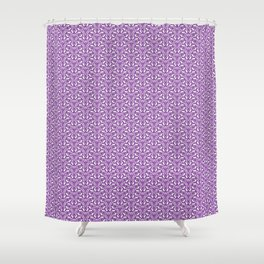Purple Curves Lavender Floral Purple and White Radial Design Spirit Organic Shower Curtain