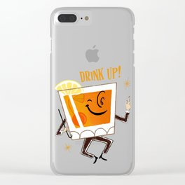 Mr. Whiskey Says Drink Up Clear iPhone Case