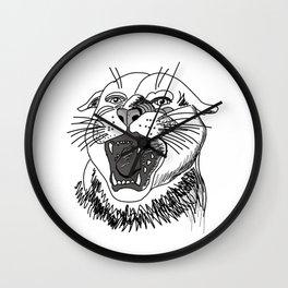 tiger angry growls ( https://society6.com/vickonskey/collection ) . Art Wall Clock