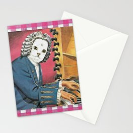 I Don't Bach I Meow Handcut collage Stationery Cards