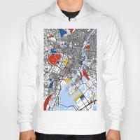 mondrian Hoodies featuring Tokyo Mondrian by Mondrian Maps
