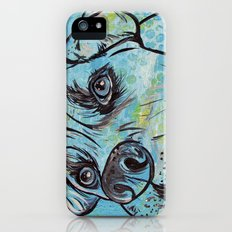 Blue Pit Bull Dog iPhone (5, 5s) Slim Case