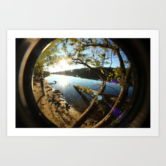 down by the river Art Print