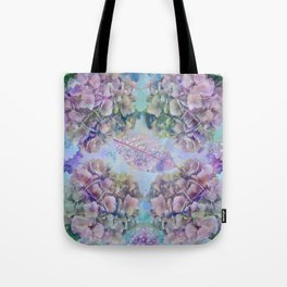 Watercolor hydrangeas and leaves Tote Bag