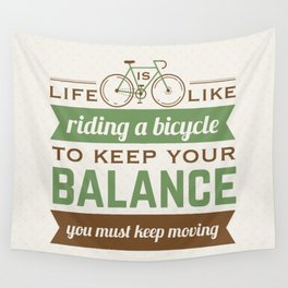 Bike Quote Wall Tapestry