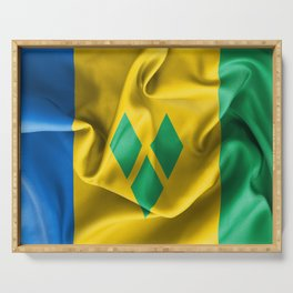 Saint Vincent and the Grenadines Flag Serving Tray