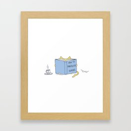 How to manipulate humans. Best seller book for cats. Framed Art Print
