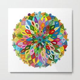 Mandala colorful Metal Print