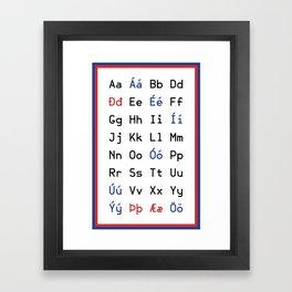 Icelandic Alphabet Framed Art Print