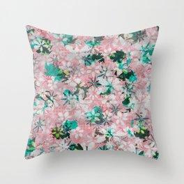 Autumn Petals on Candy Floss Throw Pillow