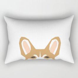 Welsh corgi peeking head corgis dog breed cute pet gifts Rectangular Pillow