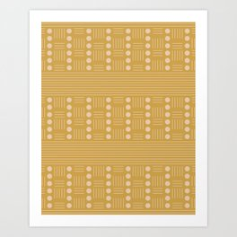Lines and Circle in Mustard Art Print