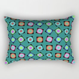 Teal Teaser (2), 2130d5 Rectangular Pillow