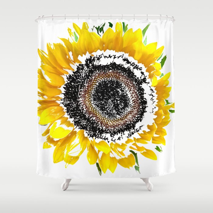 Sunflower Shower Curtain By Regansworld