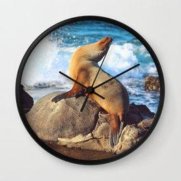 SeaLion Mermaid Wall Clock