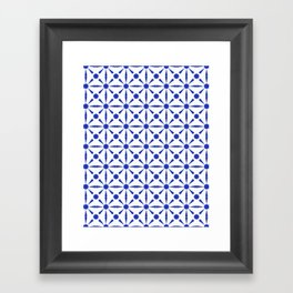 N243 - Geometric Oriental Traditional Moroccan Andalusian Tiles Style Framed Art Print