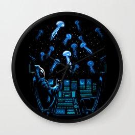 Astronaut Jellyfish Wall Clock
