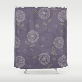 Folky Lace Flowers Shower Curtain
