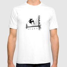 Spider-Man Walk White SMALL Mens Fitted Tee