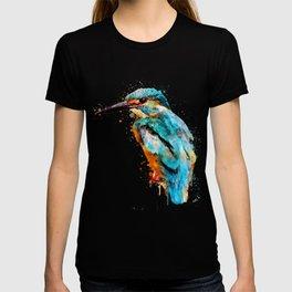 Watercolor kingfisher bird T-shirt