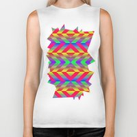 psychedelic Biker Tanks featuring Psychedelic by Texture