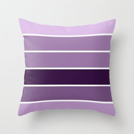Lavender Purple Stripes Throw Pillow