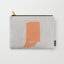 Pawnee, Indiana Map Carry-All Pouch