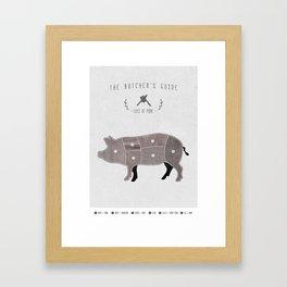 Butchers Chart Pork Framed Art Print