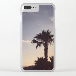 Malibu sunsets Clear iPhone Case