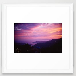 French Riviera Sunset Framed Art Print