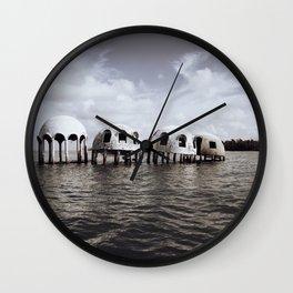 Cape Romano domes Wall Clock