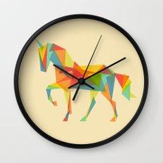 Fractal Geometric Unicorn Wall Clock