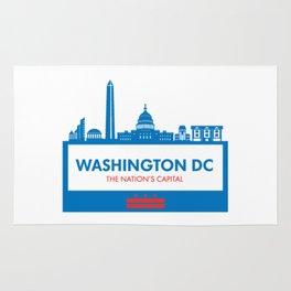 Washington DC Illustration Rug
