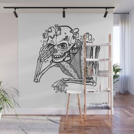Anxiety Skeleton Wall Mural