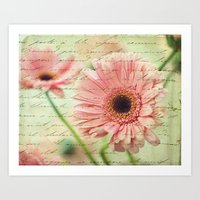 shabby chic Art Prints featuring Shabby Chic by whimsy canvas
